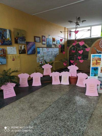 Ден на розовата фланелка 24.02.2021 г. - Средно училище Отец Паисий, Куклен