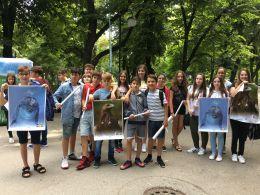 Удовлетворени след състезанието - Средно училище Отец Паисий, Куклен