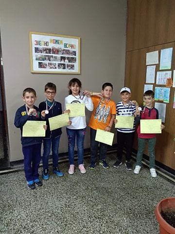 Състезание МНОГОЗНАЙКО - ученици от 3а клас - Средно училище Отец Паисий, Куклен